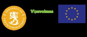 kolme hankerahoittajan logomerkkiä